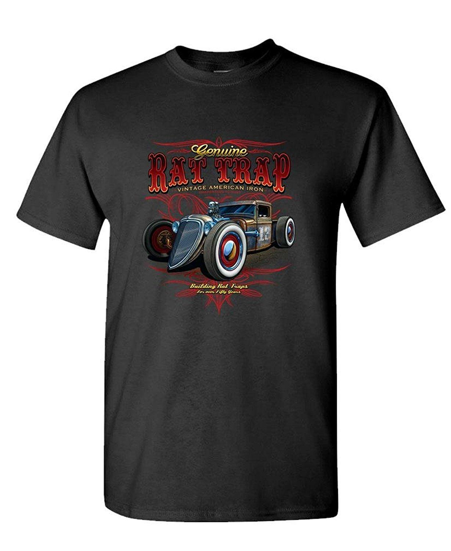 Design your own t-shirt iron on - Design Your Own T Shirt Short Printing Machine Rat Trap Vintage American Iron Garage Gas