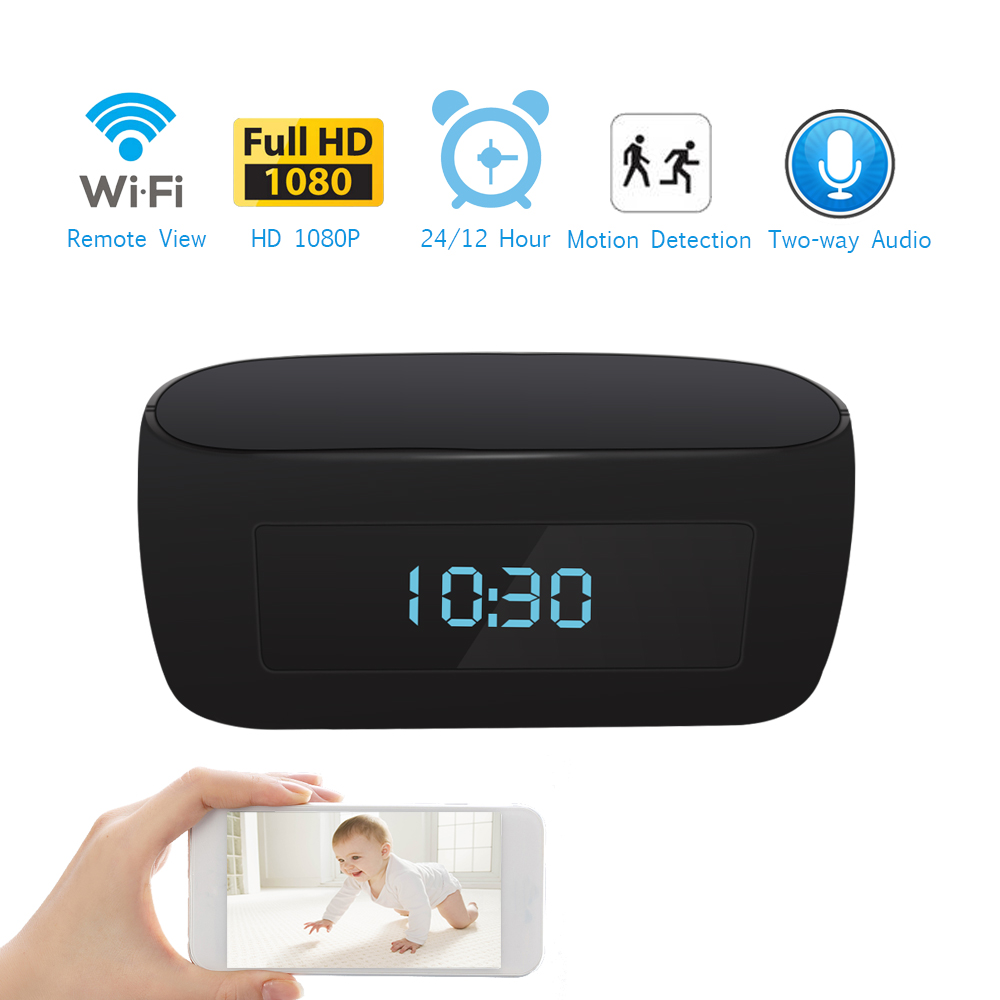 Wireless Clock 1080P IP Camera WIFI Clock Network CCTV HD Baby Monitor Remote Control Home Security Night Vision Two Way Audio baby monitor camera wireless wifi ip camera 720p hd app remote control smart home alarm systems security 1mp webcam yoosee app