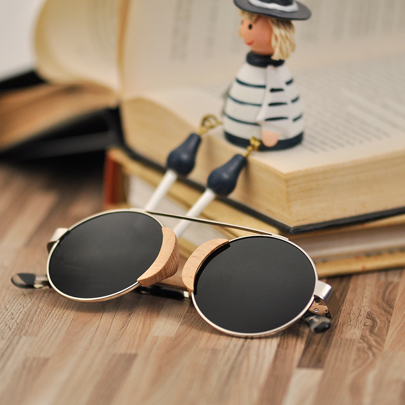 BOBO VOGEL Kinder sonnenbrille kinder Sonnenbrille Frauen Holz Brillen Matel UV400 Polarisierte Holz Damen Sport Herren in Geschenke Box