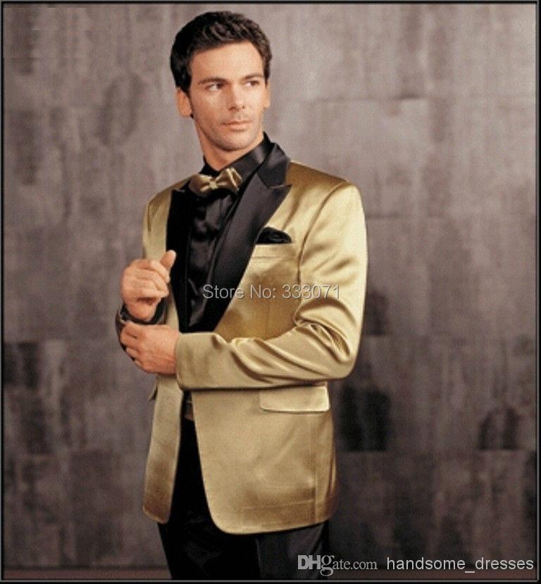 Popular Black & Gold Tuxedo Jacket-Buy Cheap Black & Gold