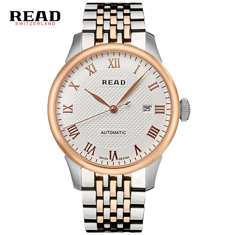 2017 READ Men Fashion Automatic Watch Self-wind Mechanical Wristwatch Male Clock Classic Stylish Design Stainless Steel Watch цена и фото