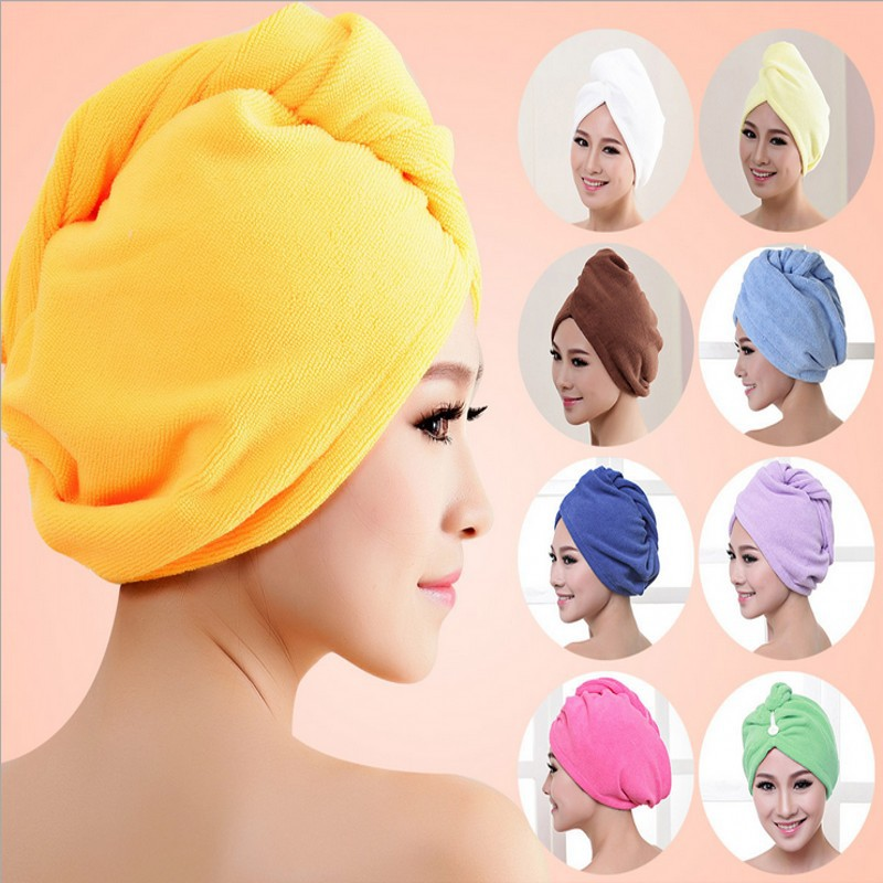 freies Verschiffen Dame Turban Mikrofasergewebe Verdickung trockenes Haar Hut super saugfähig schnell trocknendes Haar Duschhaube Badetuch