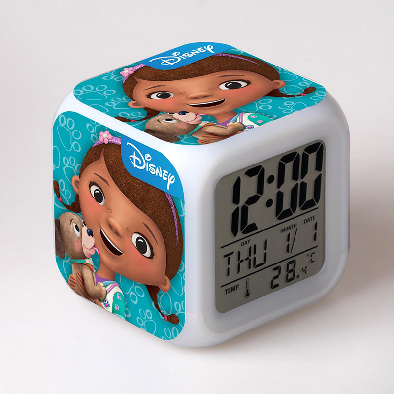 Girls 2016 Doc McStuffins Doctor Friend Girls Toys Alarm Clock with Color Touch Light Dolls Brinquedos Gift