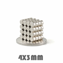 цена 200/300/500pcs 4*3 mm Super Powerful Neodymium Magnets Free Shipping Dia 4x3 mm N35 Rare Earth Magnet For Crafts Fridge в интернет-магазинах