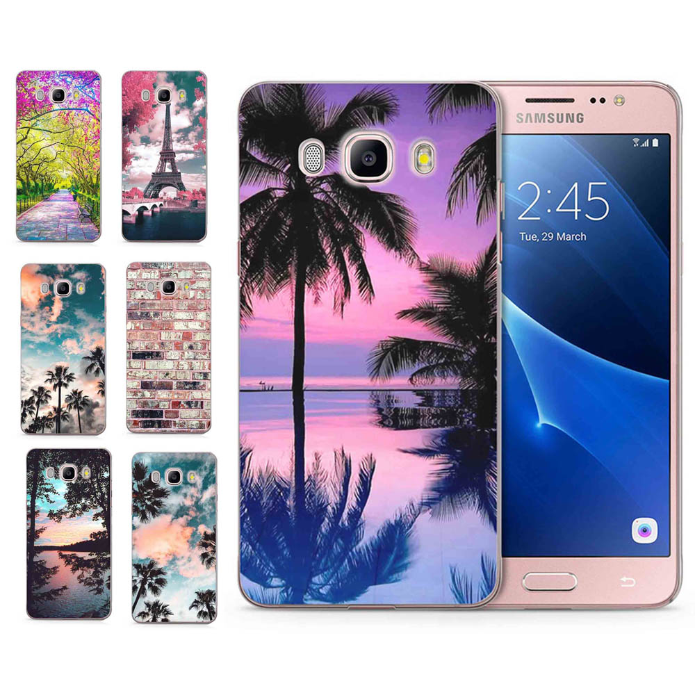 For Samsung Galaxy A3 A5 2016 2015 2017 prime J1 J2 J3 J5 J7 G530H S8/plus Note 8 TPU Silicon Tree Tower Scenery Cover Case C097