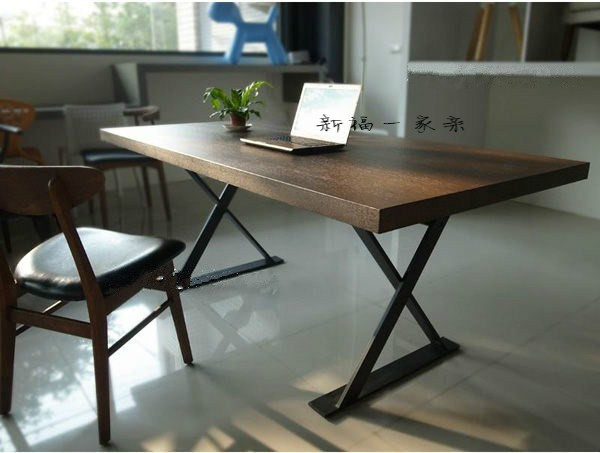 American Village Loft Solid Wood Dining Table Designer Work Conference Desk Computer Retro