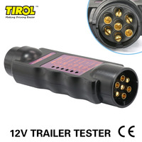 Tirol Black 7 Pin Towing Trailer Horsebox Caravan Car Truck Vehicle Light Elect12V Wiring Circuit 12N