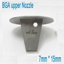1PCS 15mmx7mm Authentic Titanium Alloy TOP BGA Hot Air Nozzles For zhuomao ZM-R590 ZM5830 ZM5860C ZM6200 ZM6800