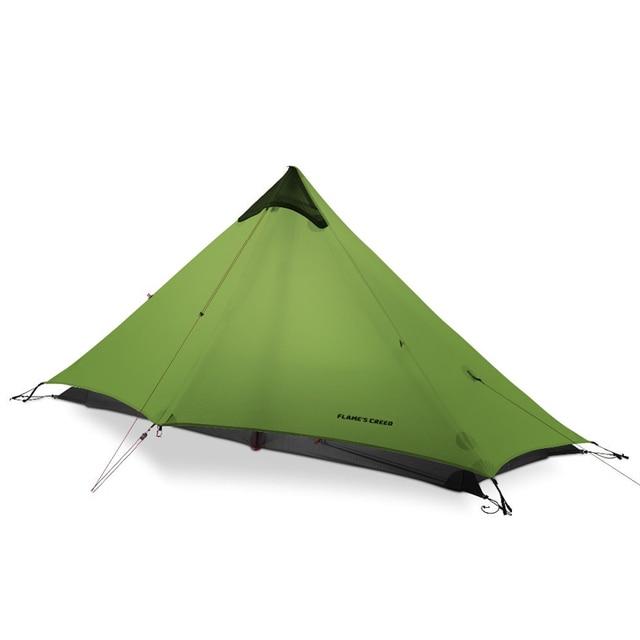 FLAME'S CREED LanShan 1 Person Oudoor Ultraleicht Camping Zelt Einzigen Mann 3 Saison Professionelle 15D Silnylon Kolbenstangenlosen