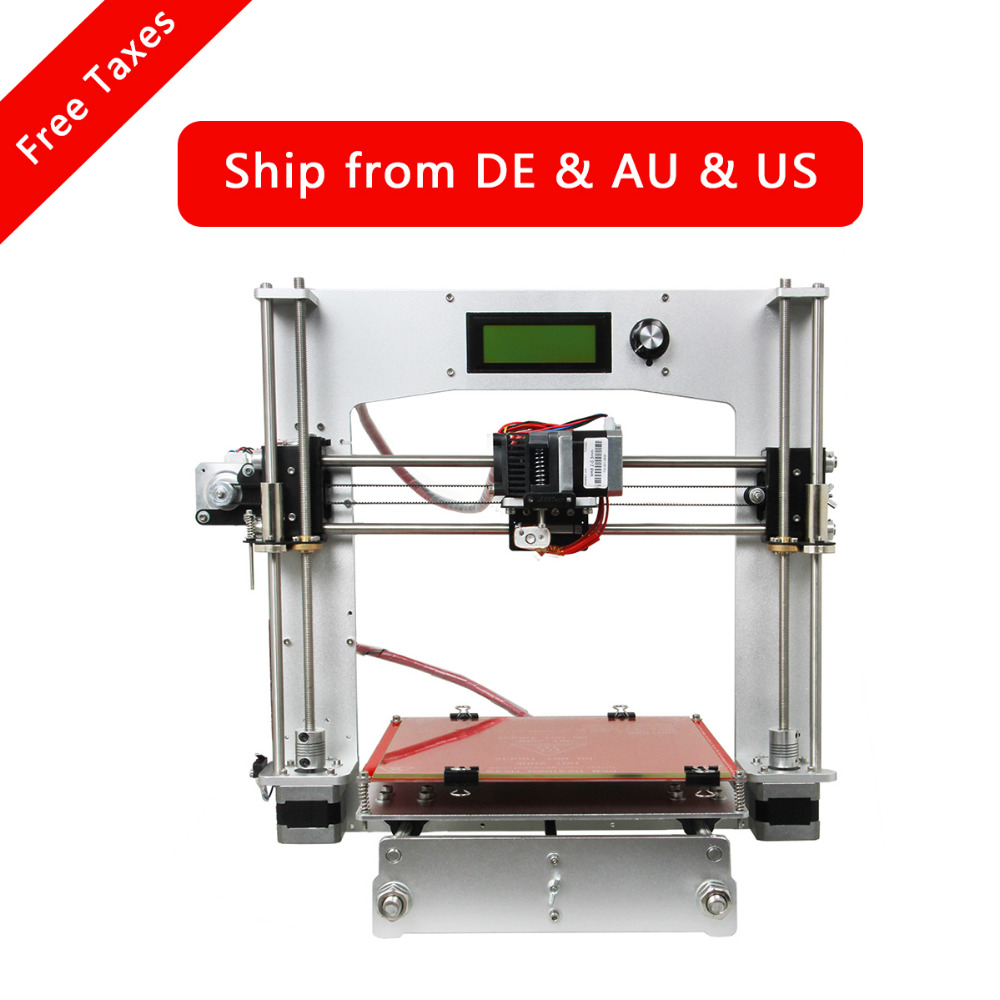 Geeetech 3D Printer DIY Kit Newest All Aluminum Reprap Prusa i3 High Precision with Free LCD metal frame linear guide rail for xzy axix high quality precision prusa i3 plus creality 3d cr 10 400 400 3d printer diy kit