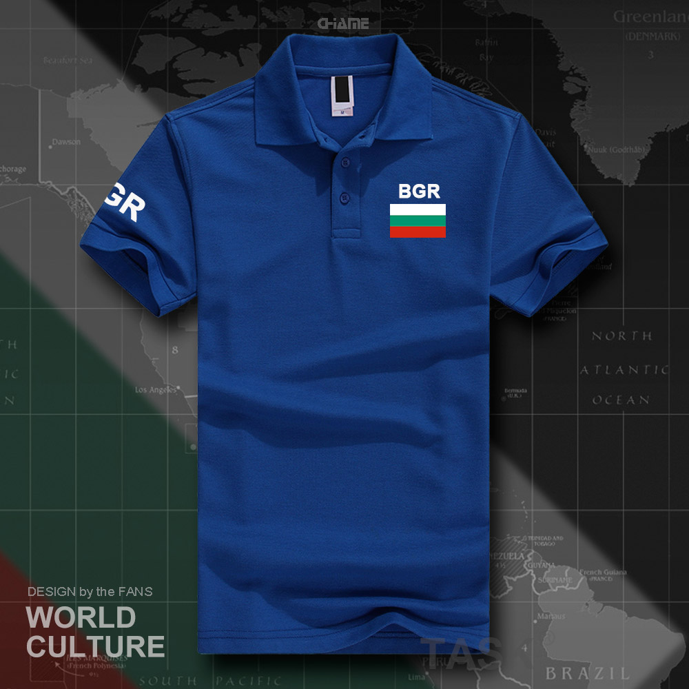 Republic of Bulgaria Bulgarian   polo   shirts men short sleeve white brands printed for country 2017 cotton nation team flag new