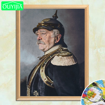German Prime Minister Otto Von Bismarck Martial Attire 5D DIY Diamond Painting Full Square Diamond Embroidery Rhinestone Picture image