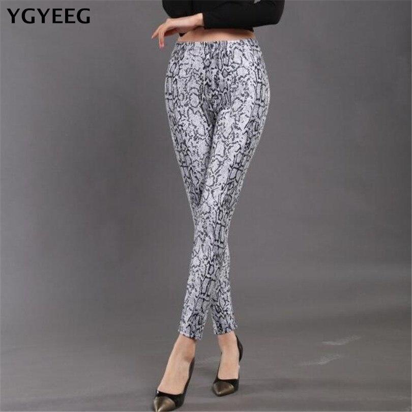 YGYEEG Sports Printing Style Leggings Breathable Slim Pants Ankle-Length Fitness Leggings Snake Printing Summer Fashion Legging