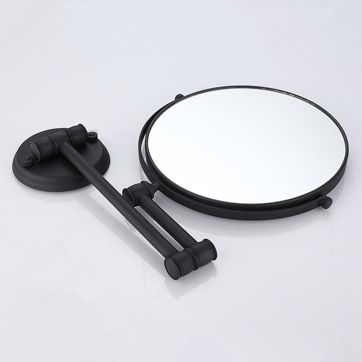 Aliexpress Bath Mirrors Cosmetic Makeup Mirror 8 Inch Round Wall Of Bathroom Floding Magnifying Br Black H 52 From