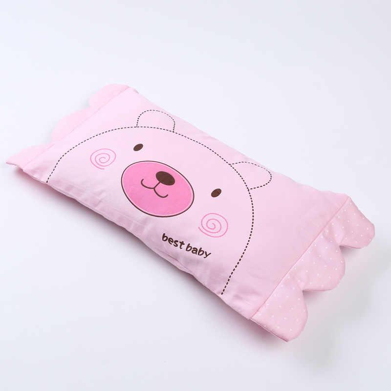 Удлиненная прямоугольная детская подушка с рисунком из мультфильма, хлопковая подушка для защиты шеи, детская подушка для шеи, четыре сезона, детская подушка для детей 0-3 лет