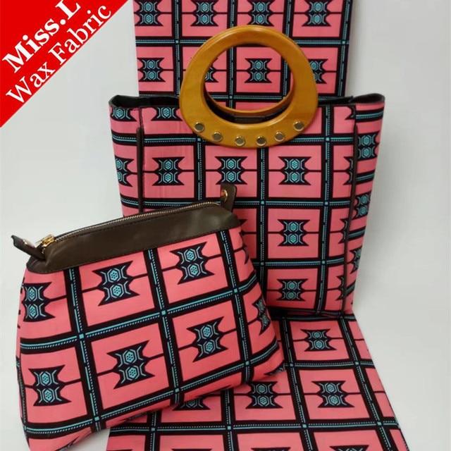 30ff6d4306fe L Fashion African Women Handbag With 6 Yards Real Hollandais Wax Fabric