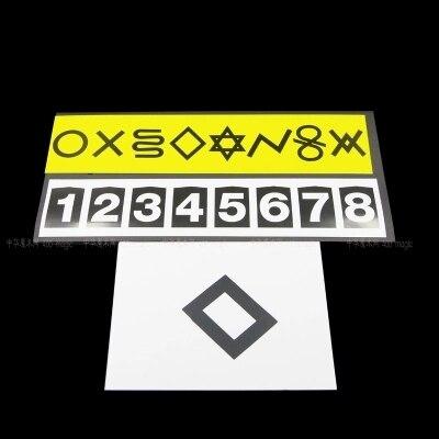 Psign Magique Des Tours De Magie Carte Mentale Symbole Avec ESP Mentalisme Dtape Accessoires Illusions Dans Jouets Et