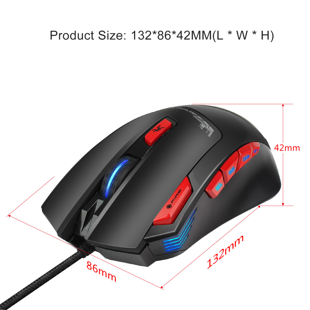 Image 2 - HXSJ New Macro Definition 6000 Adjustable DPI Gaming Mouse 9 Buttons Game Console Laptop Accessories Ergonomics-in Mice from Computer & Office