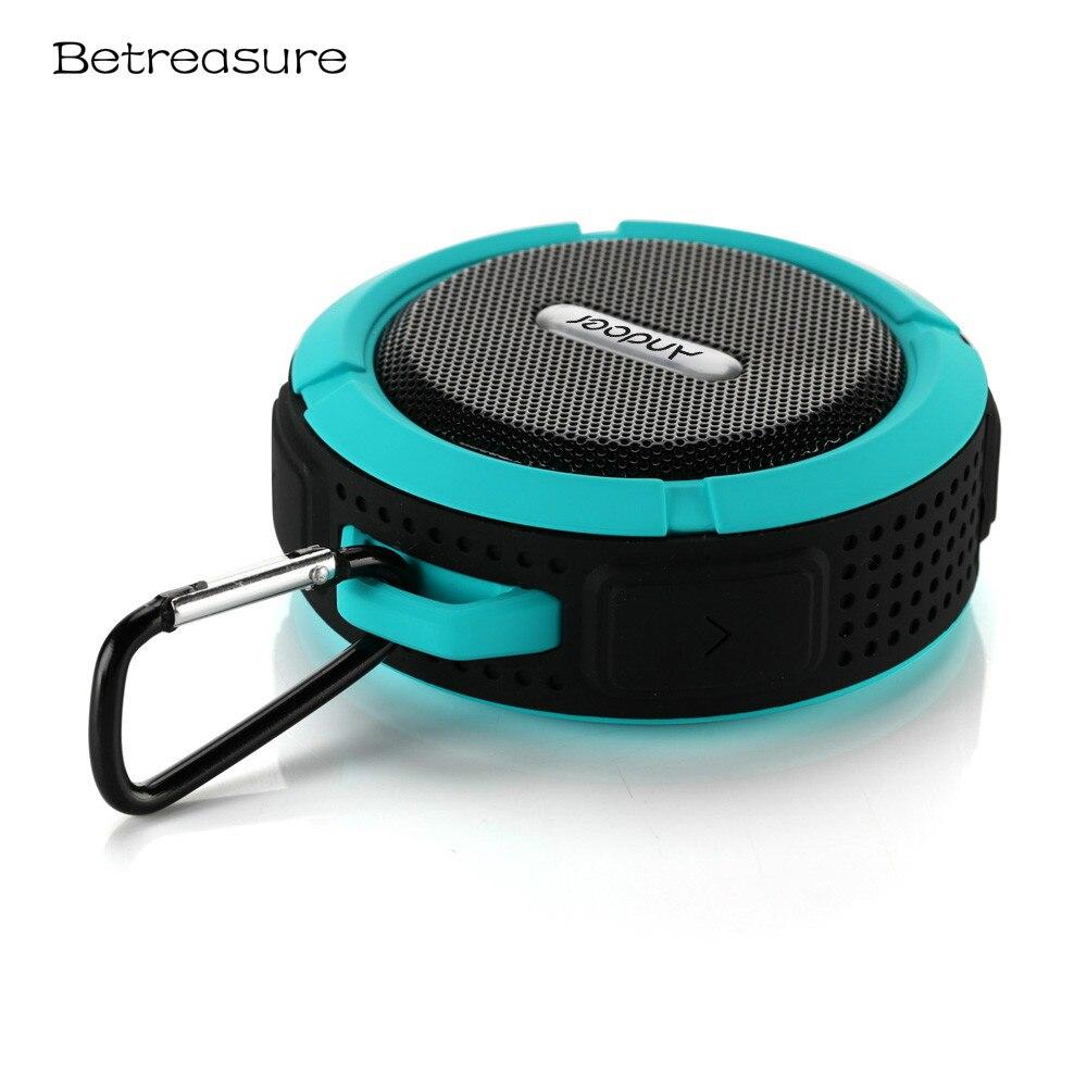 Betreasure BS06 Extérieure Portable Bluetooth Haut-Parleur Étanche Stéréo Sucker Sans Fil Subwoofer Mini Haut-parleurs Pour Téléphone Mobile