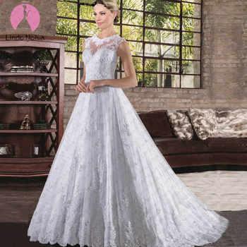 Vestido De Noiva Simples O-neck Tank A Line Wedding Dresses 2019 Sexy Appliques Tulle Bride Gowns Bridal Zipper Back Casamento - DISCOUNT ITEM  0% OFF All Category
