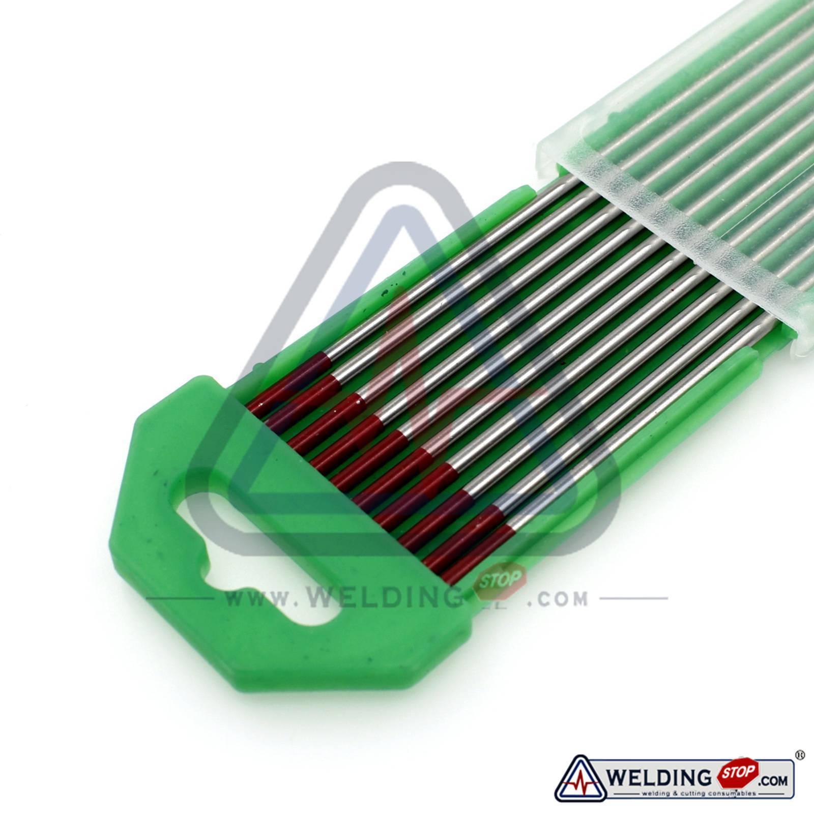 "TIG Welding Tungsten Electrodes 2/% Thoriated 10 Pk 3//32/"" X 7/""Red WT20"