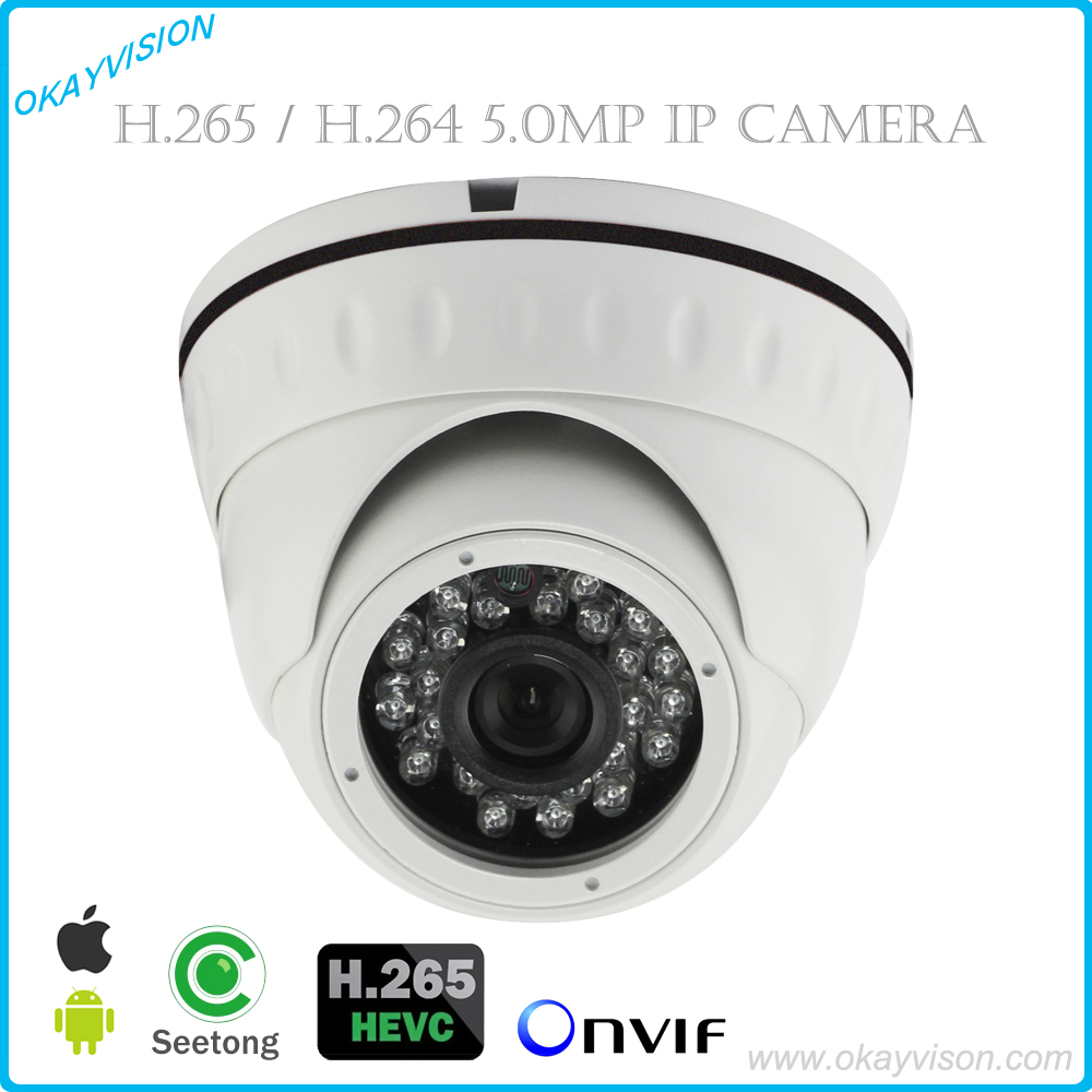 1080P FULL HD IP Camera Indoor Dome Cam 5.0MP H.264 H.265 Onvif P2P Network Camera Indoor Outdoor IP Camera Metal Case IP66
