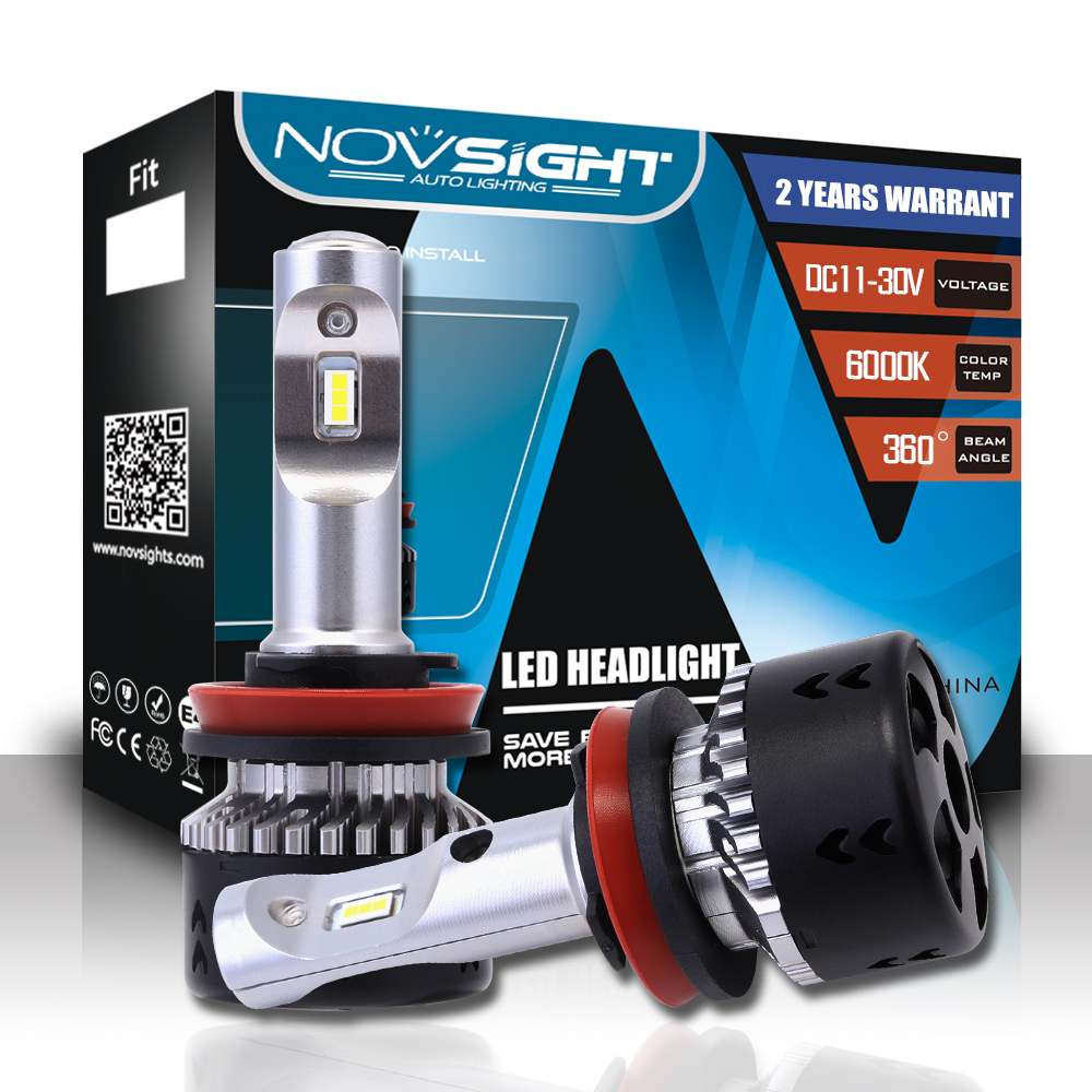NOVSIGHT Car Headlight H7 LED H4 Headlight Bulbs H11 70W 10000lm 6000K Led Auto Headlamp Fog Lights 12v 24v For Car Accessories