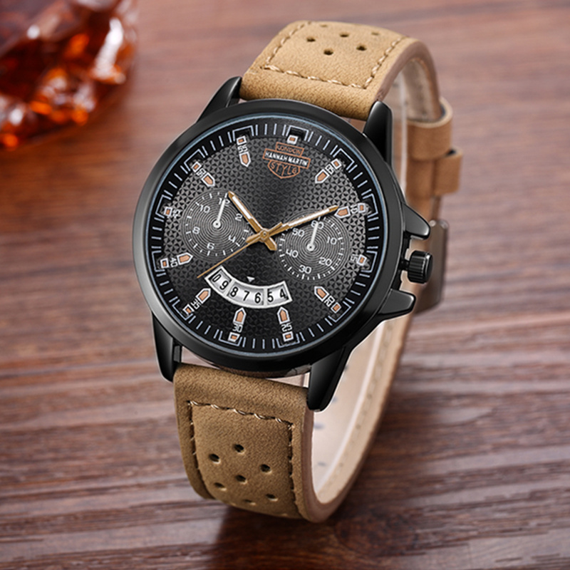 Hannah Martin Men's Sport Watch Men Watch Fashion Army Military Men's Watch Auto Date Waterproof Watches Clock saat reloj hombre