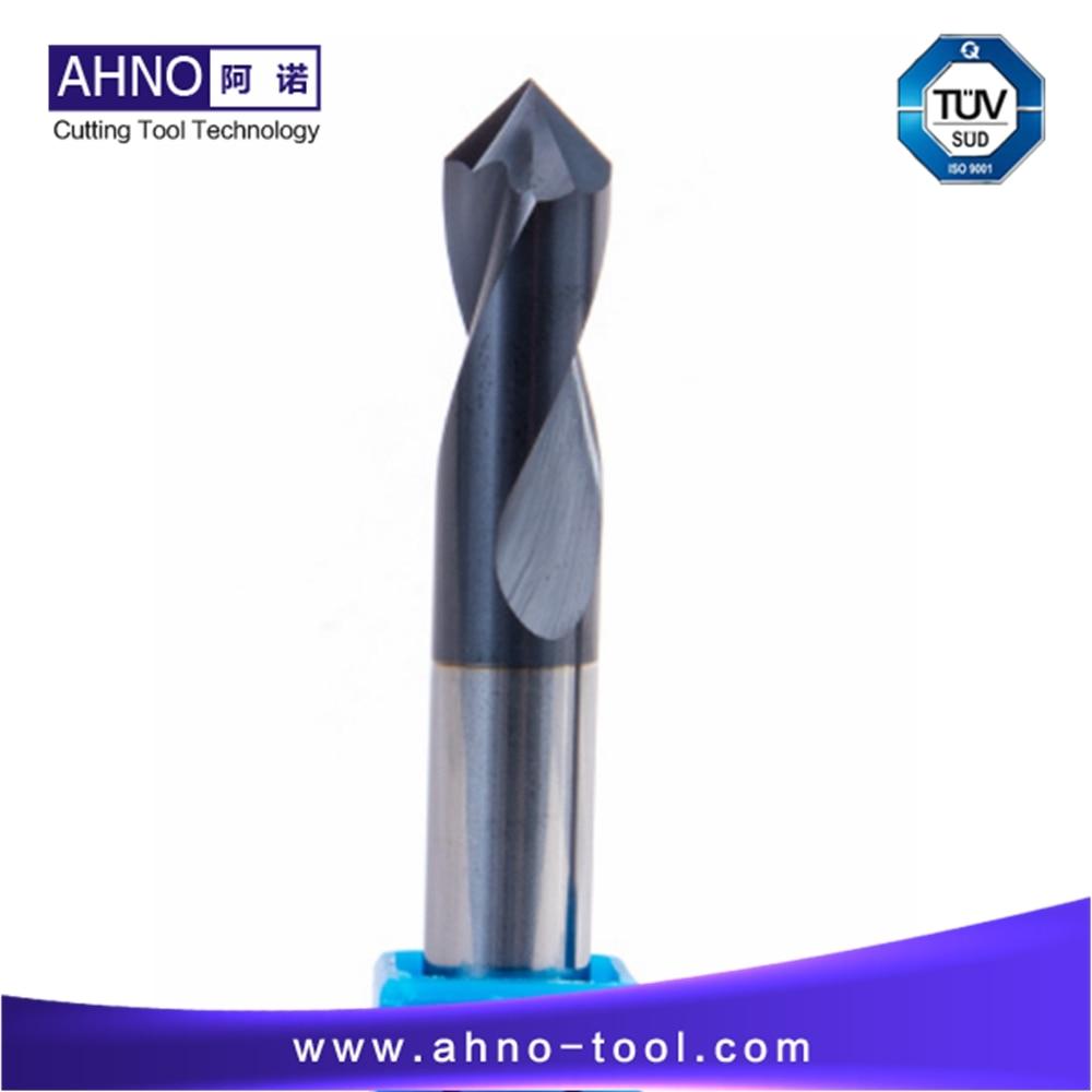 BeRay of AHNO 2 Flutes Tungsten Carbide Spotting Drill bit, Point Angle 90 degree, Chamfer,Machine on the Steel 5pcs lot beray of ahno 4 flutes 100