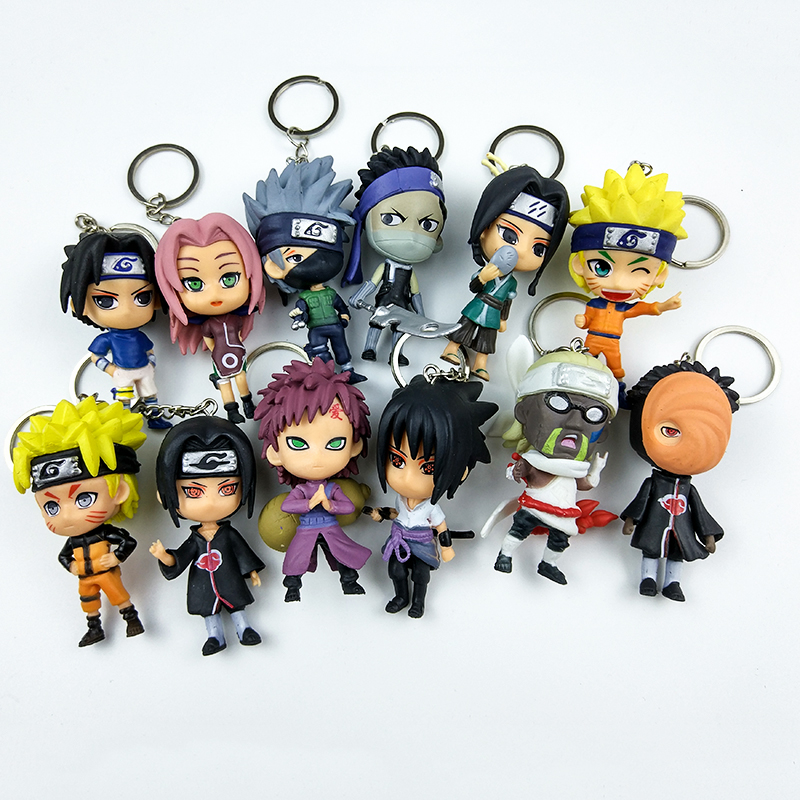 New 6pc/set Anime Naruto Action Figure toys 3 Q Version Naruto Keychain PVC Figures Model Collection 12pcs Gift Toy WX170K new hot christmas gift 21inch 52cm bearbrick be rbrick fashion toy pvc action figure collectible model toy decoration