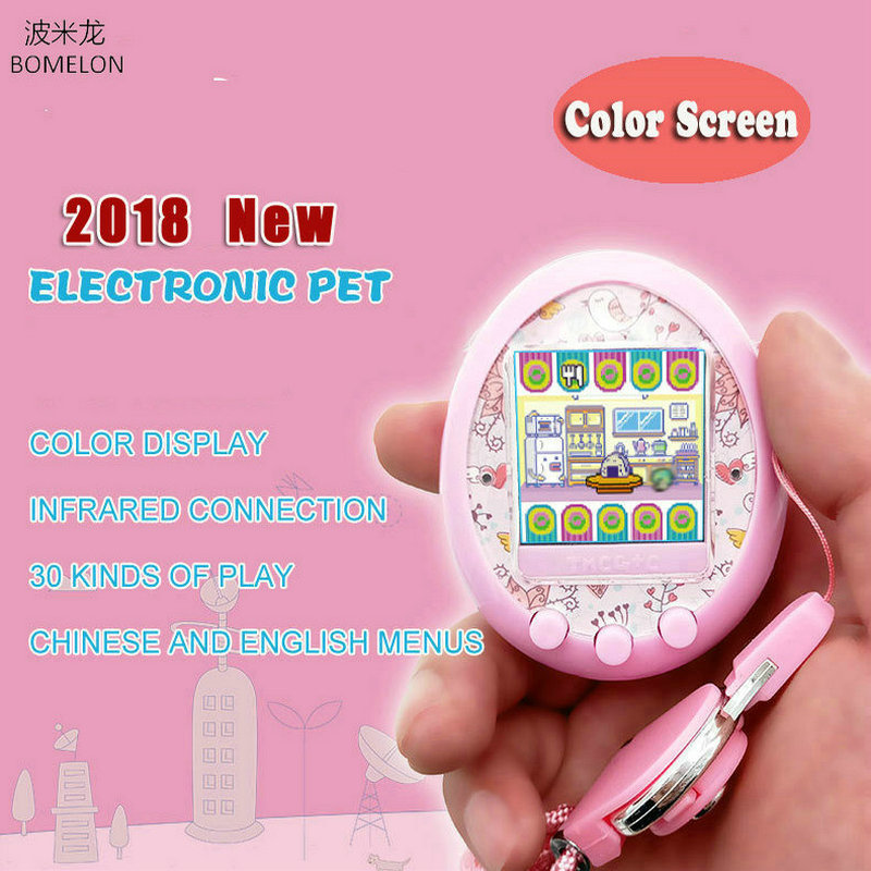2018 New Color Screen Electronic Pet Toys Virtual Little Live Pets Infrared Connection Sanal Bebek Interactive Toys for Children