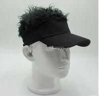 Hot Fashion Novelty Baseball Cap Fake Flair Hair Sun Visor Hats Man S Women S Toupee