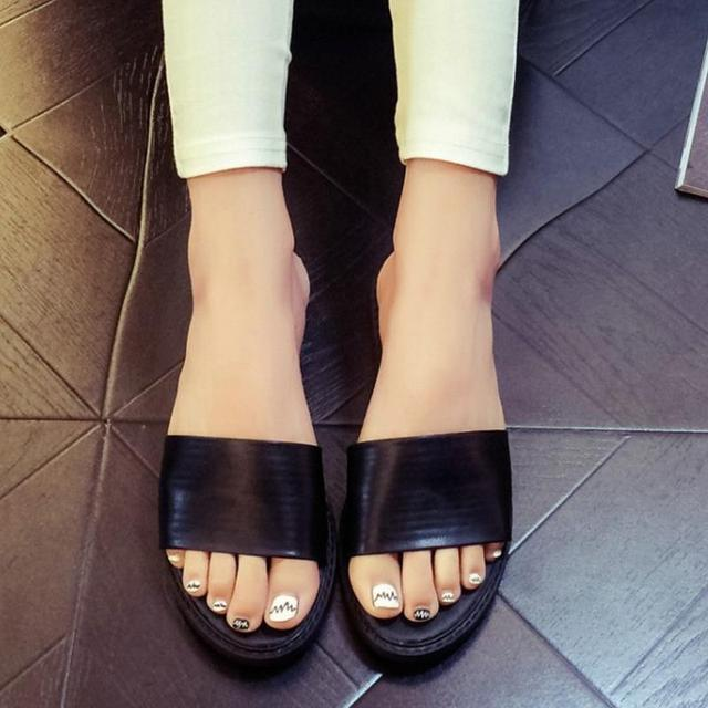 KemeKiss Women Flats Slippers Fashion Sandals Solid Peep Toe Shoes Women Flat Leisure Daily Sandal Footwear Size 35-40