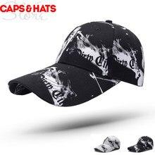 dcb0573541003 2018 New Long Brim Camouflage Baseball Cap Golf Trucker Hat Graffiti Czapka  Dziecko Casquette Ny Cachuchas