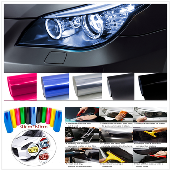 Car HeadLight Light Decor Vinyl Film Sticker Decal for Mercedes Benz Class A Class B CLA GLA Class C Class E CLS Class S SLC SL image
