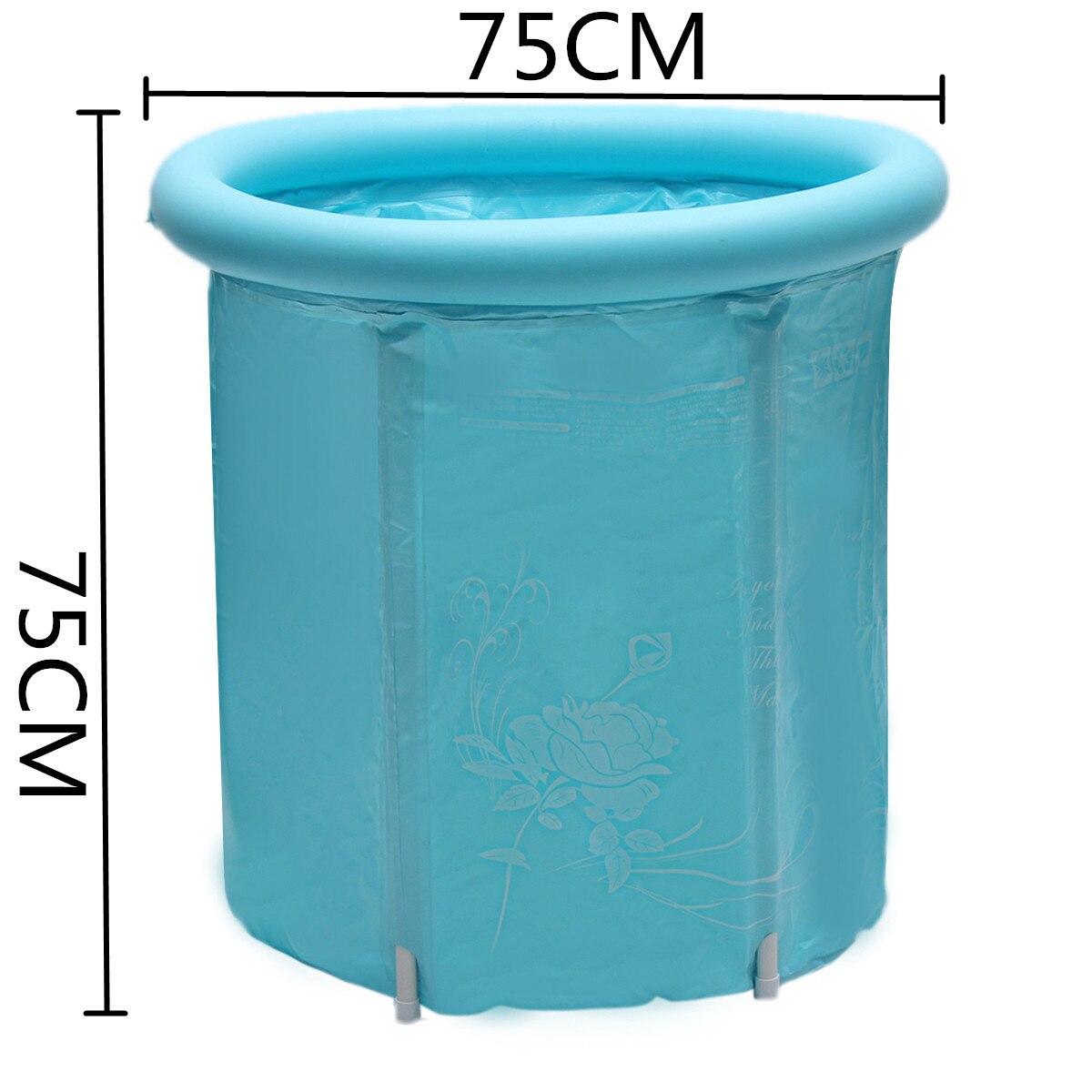 75x75 см синий большой размер ПВХ Складная портативная надувная ванна для взрослых с воздушным насосом спа домашняя надувная Ванна