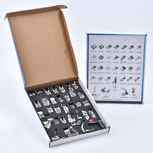 32Pcs Sewing Machine presser foot set braiding blind stitch darn Rolled Hem Feet kit  Embroidery Patchwork  sewing accessories цена и фото