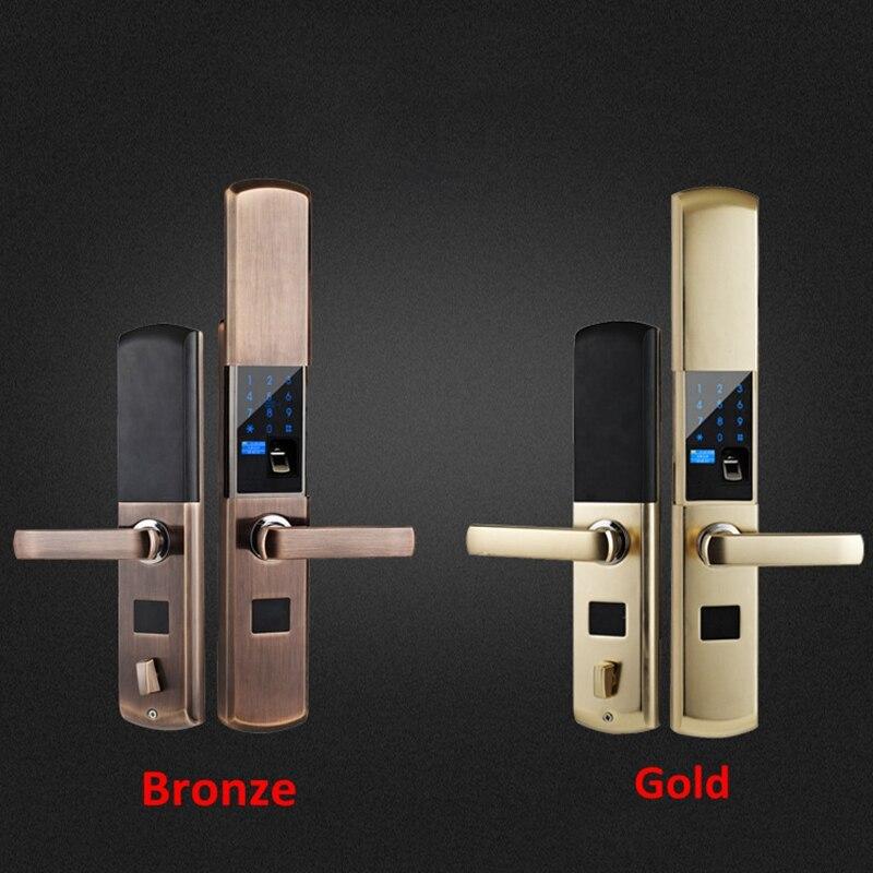 Security Smart Fingerprint Lock Digital Electronic Door Lock For Home Anti theft Intelligent Lock Password RFID Card - 5
