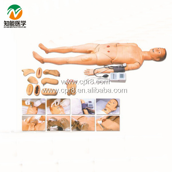 Advanced Full Function Nursing Training Manikin (With Blood Pressure Measure) BIX-H2400 W191 bix h135 advanced male full function nursing training manikin wbw031