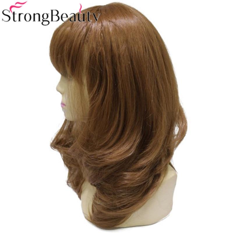 Stark skönhet Syntetisk Curly Long Medium Auburn Parykar - Syntetiskt hår - Foto 3