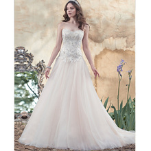 Custom Made Novia Champagne Organza Applique Beading Sexy Lace Wedding Dress Vestido De Casamento