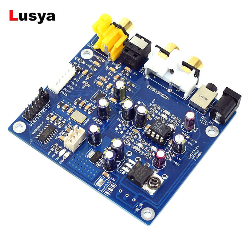 ES9038 Q2M I2S DSD <font><b>Optical</b></font> Coaxial Input Decoder <font><b>DAC</b></font> Headphone Output HiFi Audio amplifier <font><b>Board</b></font> image