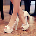 New Fashion Party summer pumps open toe black Rubber sole Platforms Breathable high-heeled sandals for woman Large size shoes