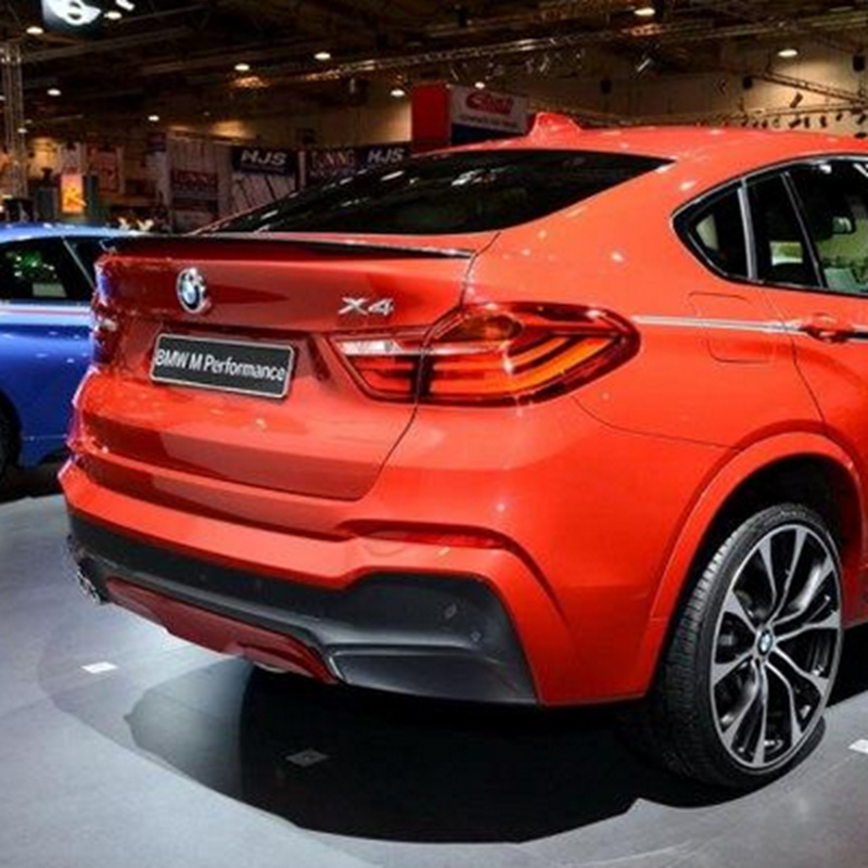 For BMW F16 X6 2015 2016 ABS Plastic Unpainted Rear Spoiler Trunk Lip Wing