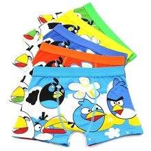 5 Baby Clothes Childrens Underwear Cartoon Boysshorts, Shorts, Underpants, Boxers, Leopards, Juvenile