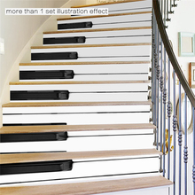 HOT Imitation 3D Staircase Sticks Black and White Piano Keys Stairs Decorative Waterproof Wall Stickers Stickers MI7(China)