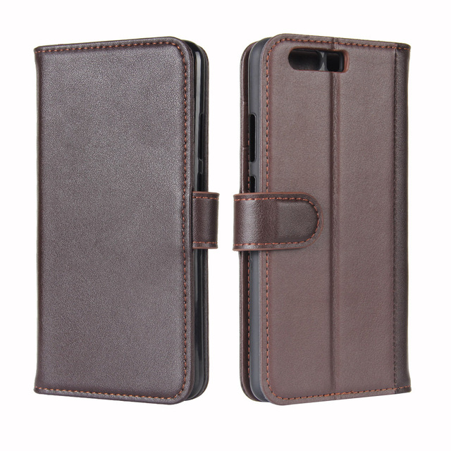Real Genuine Leather Flip Case Luxury CellPhone Magnet Funda Stand Card Holder Pouch bag cases wallet Cover For Huawei P10 plus