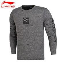Li-Ning мужской баскетбольный свитер серии BAD FIVE, обычный крой, 66% хлопок, 34% полиэстер, подкладка, спортивная одежда, топы AWDM615 CONF17
