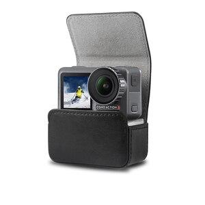 Image 1 - Caso portátil saco de couro adsorção magnética caso saco de armazenamento para dji osmo ação acessórios da câmera do esporte