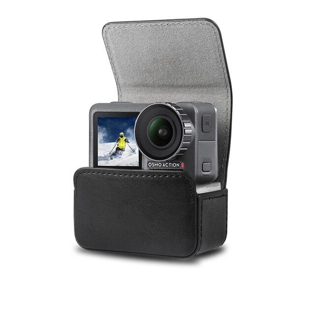 Caso portátil saco de couro adsorção magnética caso saco de armazenamento para dji osmo ação acessórios da câmera do esporte